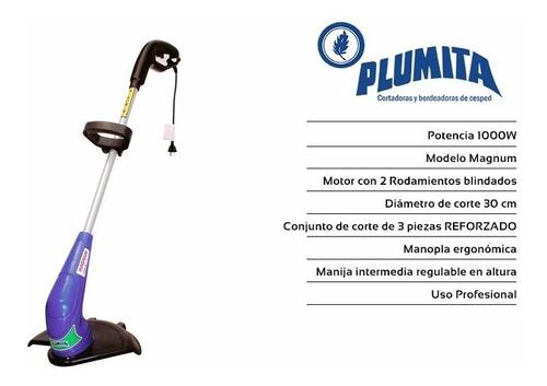 bordeadora electrica plumita 1000w 1.3hp prof. + alargue 10m