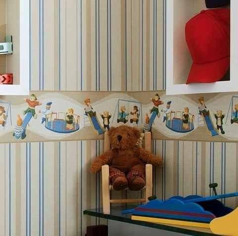 border faixa papel de parede bambinos bobinex + cola gratís