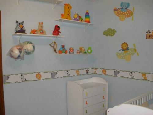 border / faixa para quarto ! corujas, coroa, zoológico e etc