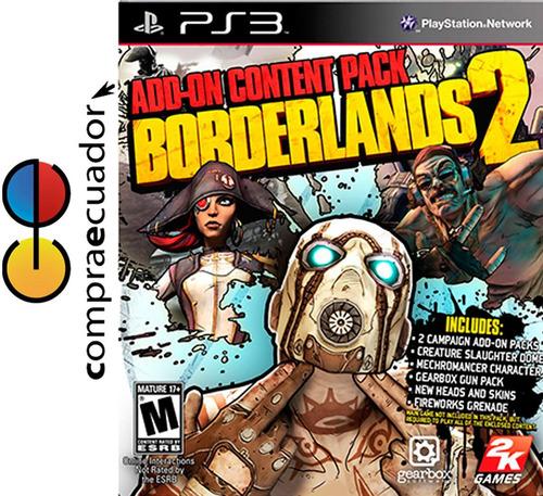 borderlands 2 add on content pack, ps3 juego fisico sellado