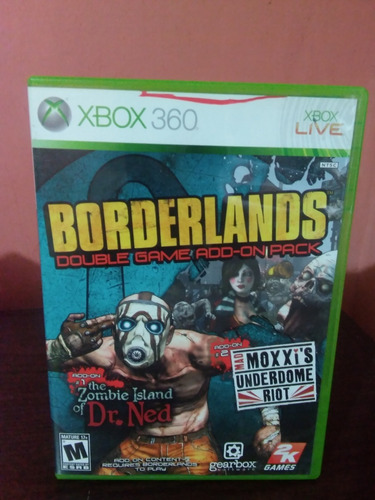 borderlands double game add-on pack para xbox 360