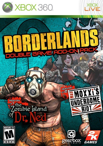 borderlands double game add on pack xbox 360