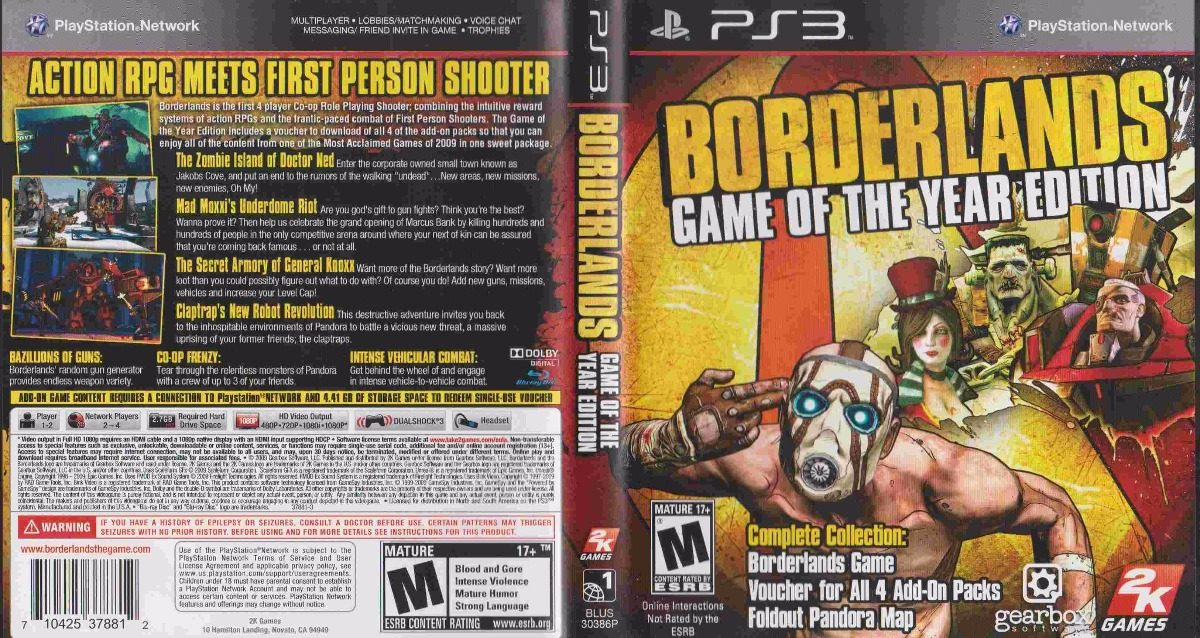 borderlands game of the year edition wiki