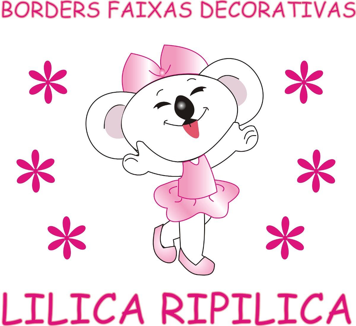 Borders Faixas Decorativas Paredes Lilica Ripilica R$ 10,99 em Mercado Livre