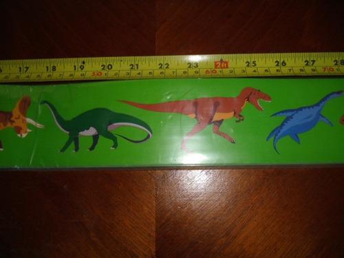 bordes franjas dinosaurios 94 cm. originales empaque sellado