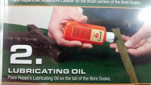 boresnake hoppes 9 kit limpieza pistola calibre 22 aceite
