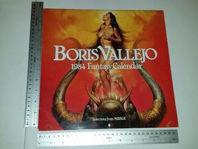 Poster Calendario 2018 Fnafhs.Boris Vallejo Calendario 1984 Con Poster Central