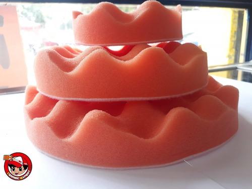 borla de esponja para pulir naranja 5.5  auto corte medio