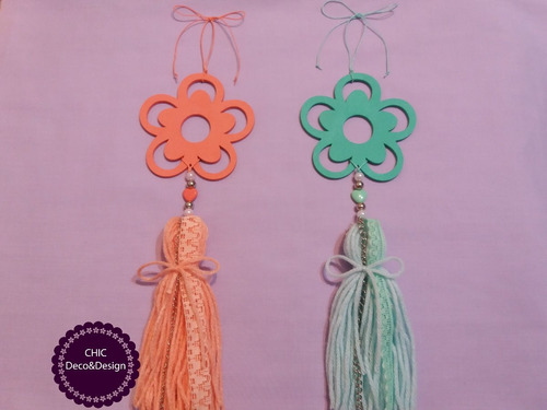 borla decorativa colgante de diseño rosario