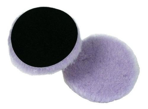 borla/esponja de lana híbrida wood pad blanco