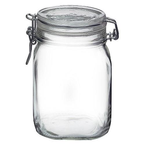 bormioli 3 frascos herméticos vidrio 1 l con tapa dulcero