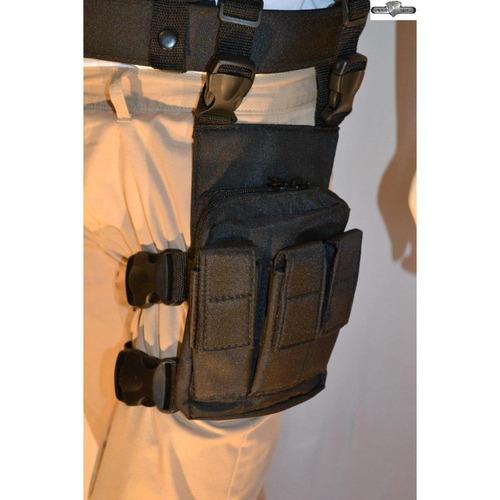 bornal de perna com porta carregadores - spider tático