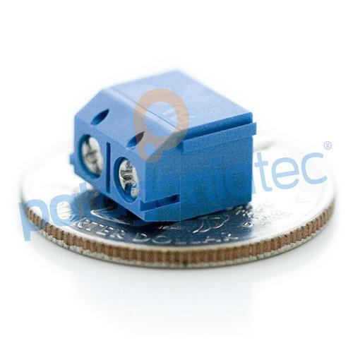 bornera azul terminal conector dg301 2 pin tornillo ptec