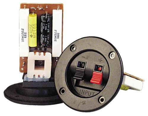bornera para bafles c/ divisor de frecuencias de 3 vías 300w