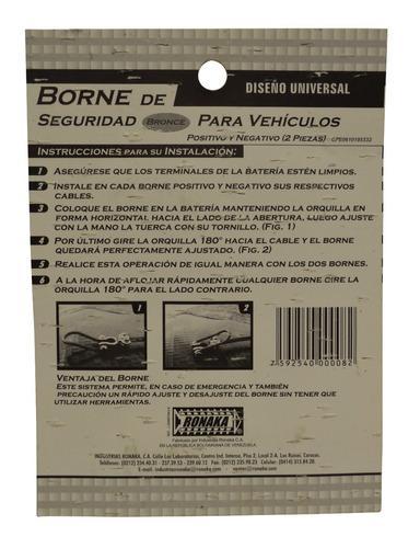bornes de seguridad para vehiculo ronaka