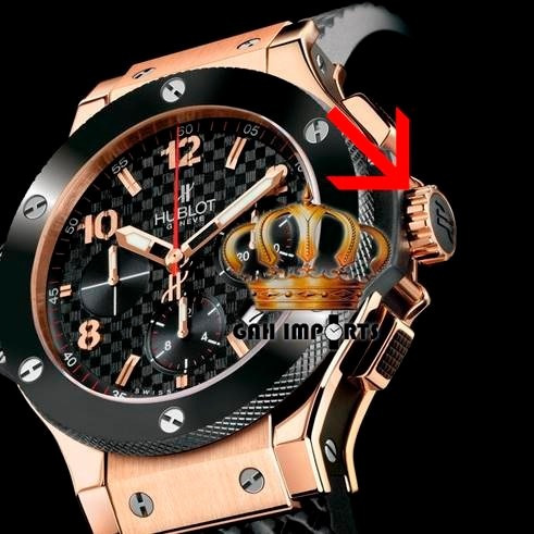 ea225b086db Borracha Da Coroa Para Relógios Hublot - Borrachinha Preta - R  49 ...
