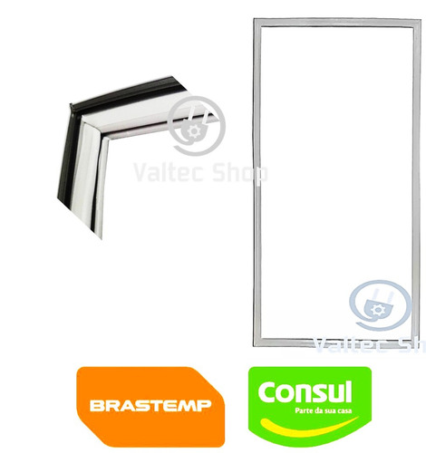 borracha da porta geladeira consul slim crc23 crb23 crc24