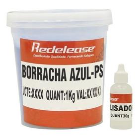 Borracha De Silicone Azul P/ Moldes Artesanatos *1 Kg + Cat*