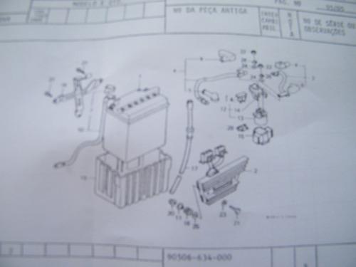 borracha do terminal do fio do motor arranque xlr 125 00/02