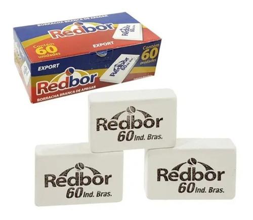 borracha escolar caixa com 60 unidades redbor nº 60