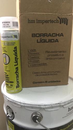 borracha liquida spray aerossol 400ml branco impertch hm