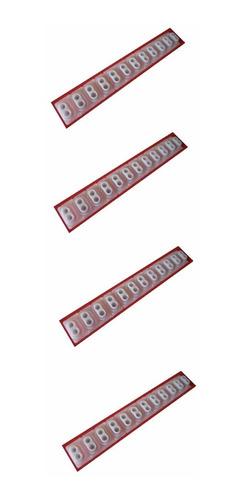 borracha p/ teclado roland alpha1 alpha jr emjr em7b kit4pçs