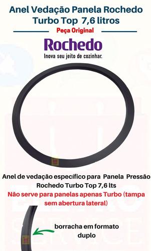 borracha panela de pressão rochedo 7,6lts turbo top