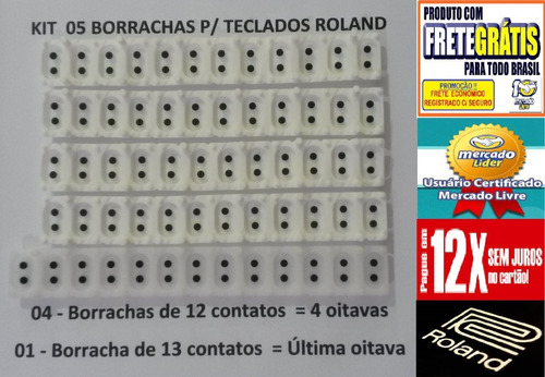 borracha para teclado roland em1b kit completo frete gratis