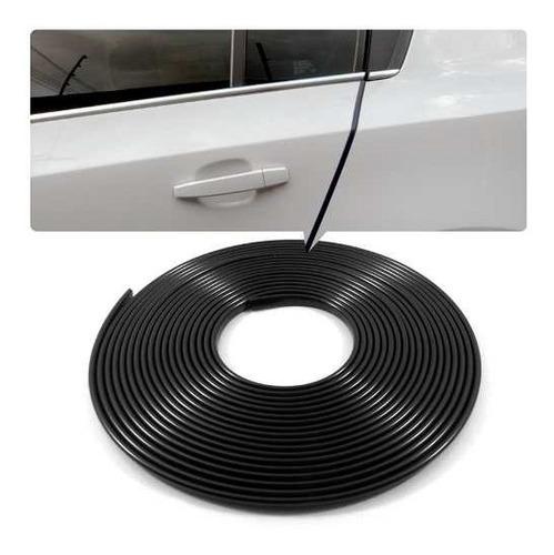 borracha proteção borda porta casca de cobra 10mt preto