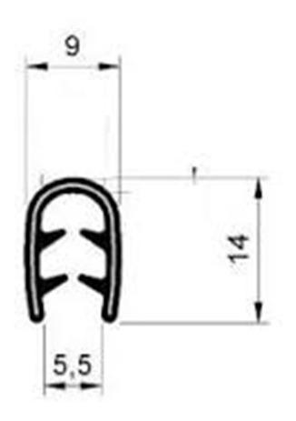 borracha protetora de porta casco de cobra para vedacao 10m