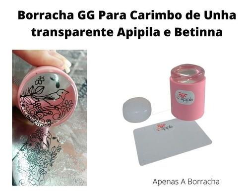 borracha transparente gg - carimbo transparente apipila