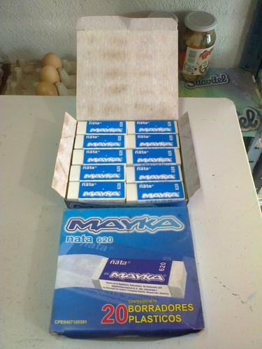 borrador nata 620. mayka. caja 20 unidades