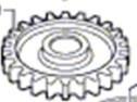 bosch gsh 16-28 engranaje11335 martillo demoledor