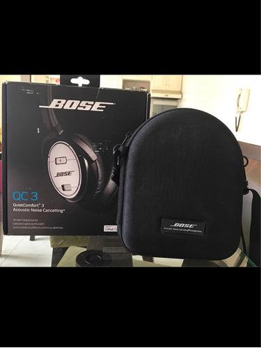 bose qc3 audifonos noise cancelling. +. almohadillas nuevas