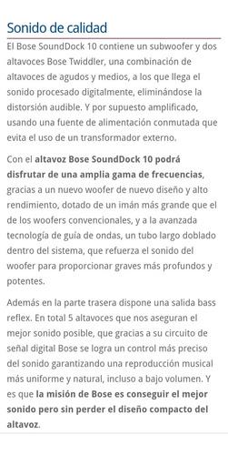 bose sounddock 10, bluetooth a control remoto