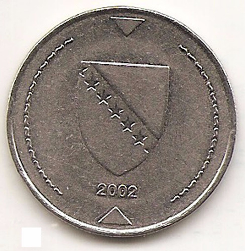 bosnia  moneda 1 km  marco año 2002