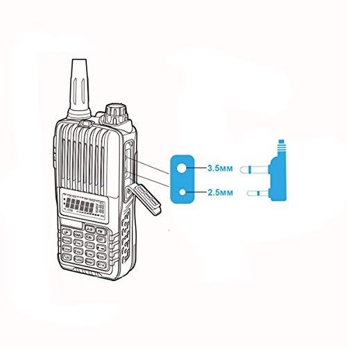 2-Way Acoustic Tube Earpiece Headset PTT Mic For Motorola Radio Walkie Talkie