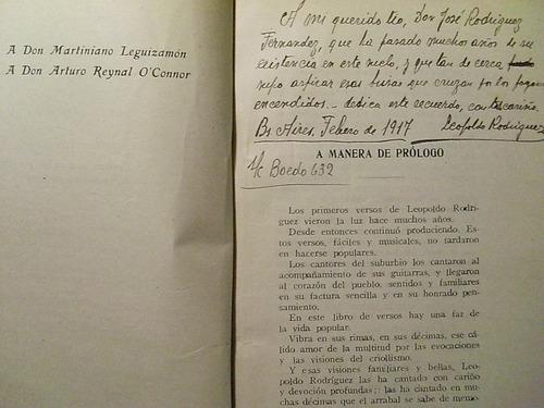 bosquejos gauchos leopoldo rodriguez dedicado y firmado  m24