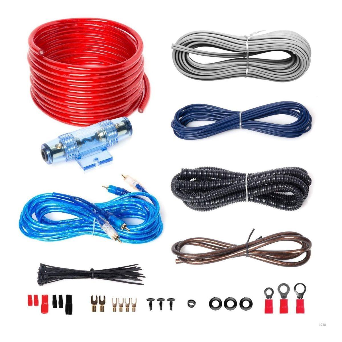 Boss Audio Kit2 8 Gauge Amplifier Installation Wiring Kit on