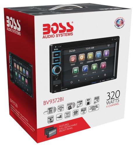 boss bv 9372 bi ,2 din, dvd,usb,bluetooth,frente desmontable