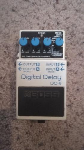 boss dd6 digital delay guitarra electrica fender ibañez vox
