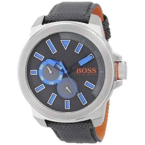 51362b4e6b2c Reloj Hugo Boss 1513013 Tela Gris Hombre -   179.900 en Mercado Libre
