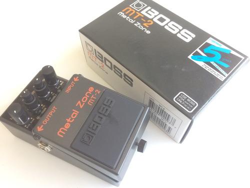 boss mt2 metal zone pedal guitarra mt-2 distortion bajo core