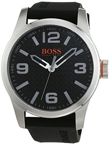 cac2e456df1d Boss Orange Para Hombre Acero Inoxidable Y Piel Casual Reloj ...