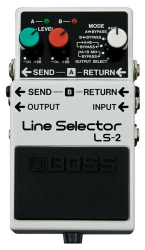 boss pedal de efecto ls-2 line selector
