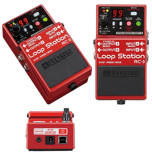 boss rc-3 loop station - pedal para guitarra *