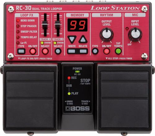 boss rc-30 pedal para guitarra eléctrica loop station