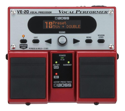 boss ve20 pedal de efecto para voces