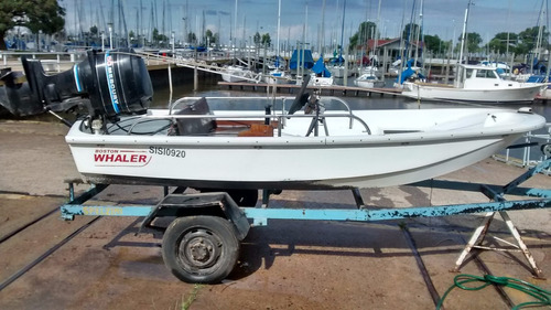 boston whaler 13 - ideal lagunera, pesca o auxiliar
