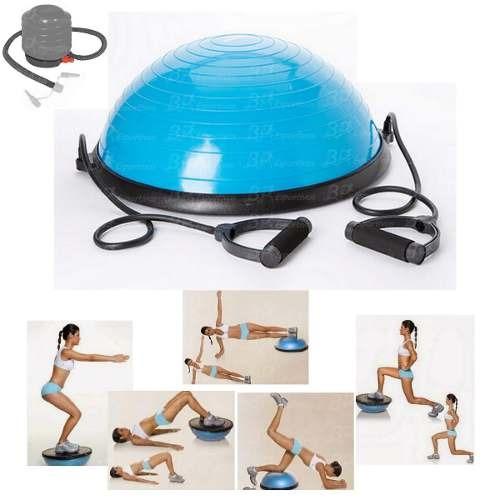 3ca580064c Bosu Meia Bola Balance Pilates Fitness Alça Bomba Liveup - R  405